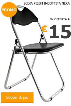 Vendita di mobili per arredamento on line pignataroshop com - Sedia pieghevole imbottita ...